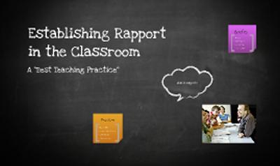 Establishing a Classroom Rapport